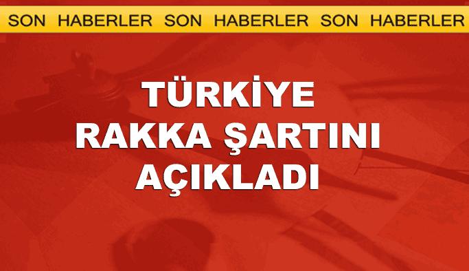 Türkiye Rakka'ya destek şartını açıkladı