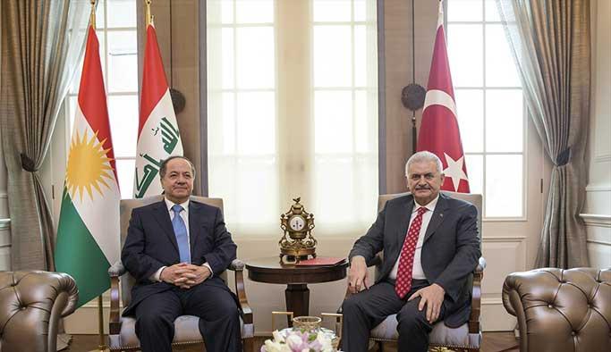 Yıldırım ile Barzani 'terörle mücadele'yi konuştu