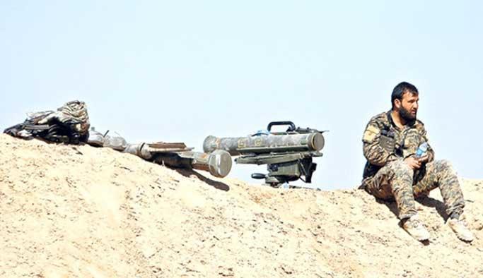 YPG'ye zırhlılardan sonra ağır silahlar da verildi