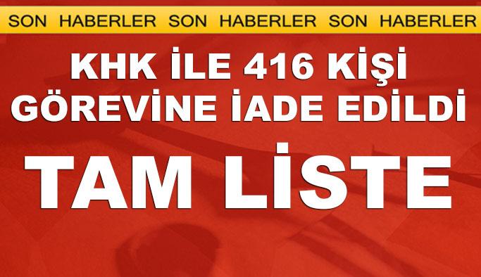 688 Sayılı Yeni KHK yayınlandı TAM LİSTE