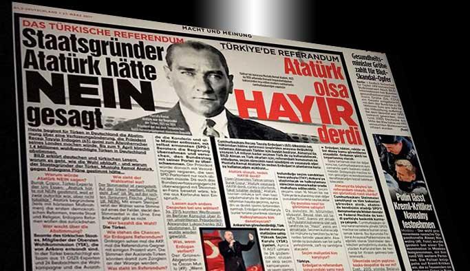 Alman basınında 'Atatürk'lü hayır kampanyası'