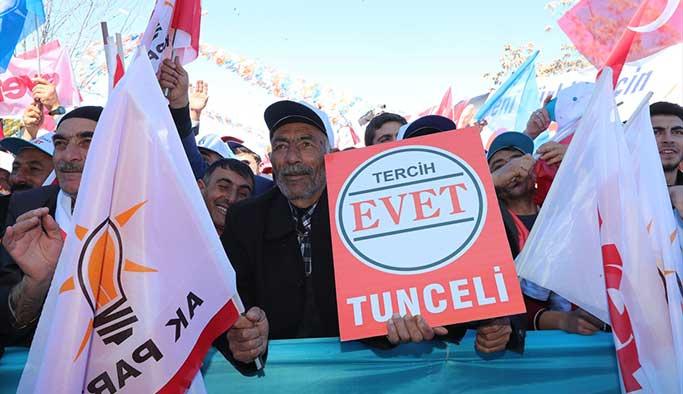 Başbakan Yıldırım Tunceli mitinginde CHP'ye yüklendi