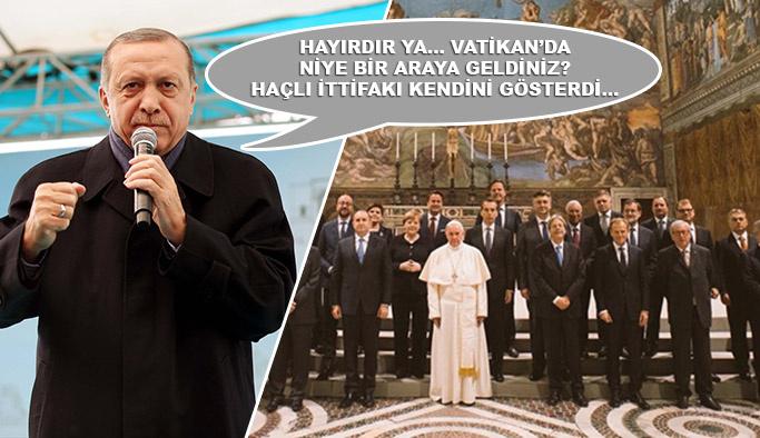 Erdoğan'dan Vatikan'da verilen poza ilk yorum