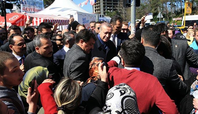 Erdoğan, 'Hayır çadırı'ndaki sohbeti anlattı
