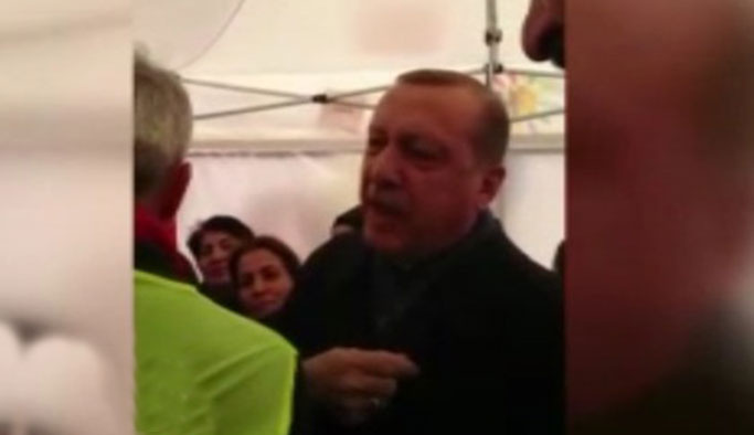 Erdoğan'ın 'Hayır' çadırı ziyaretinde yaşanan diyalog