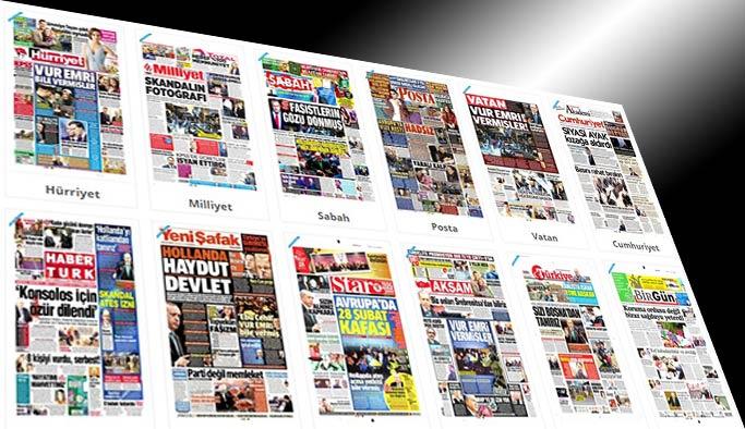 Gazetelerin bugünkü manşetleri - 15 Mart 2017