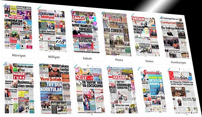 Gazetelerin bugünkü manşetleri - 23 Mart 2017