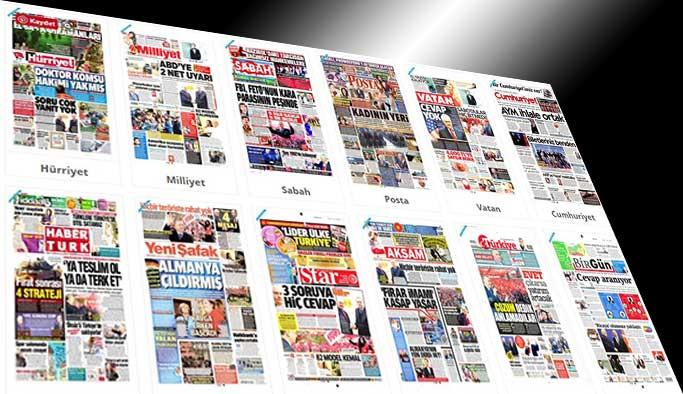 Gazetelerin bugünkü manşetleri - 31 Mart 2017