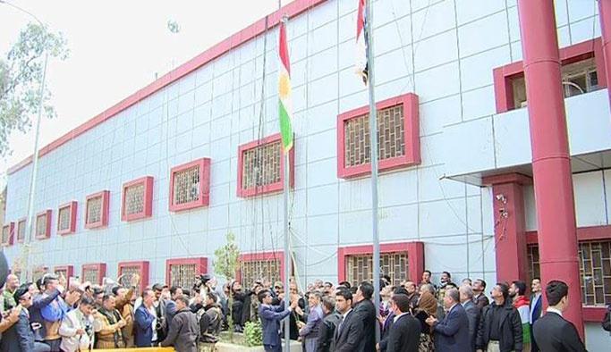 Kerkük'teki 'Kürt bayrağı'na Türkiye'den tepki