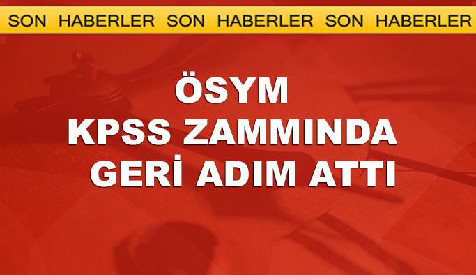 KPSS'deki zamlı fiyatlar geri alındı