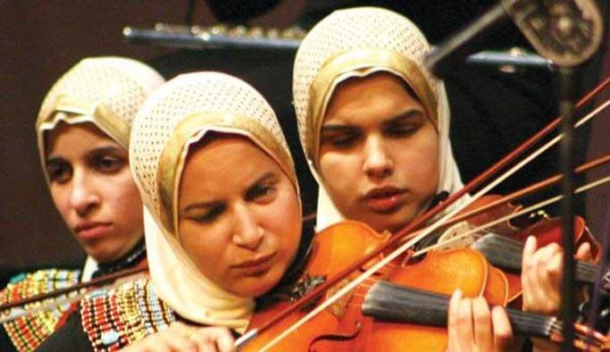 Mısır'da görme engelliler orkestrası