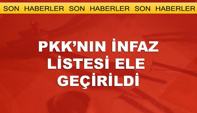 PKK'nın infaz listesi ele geçirildi