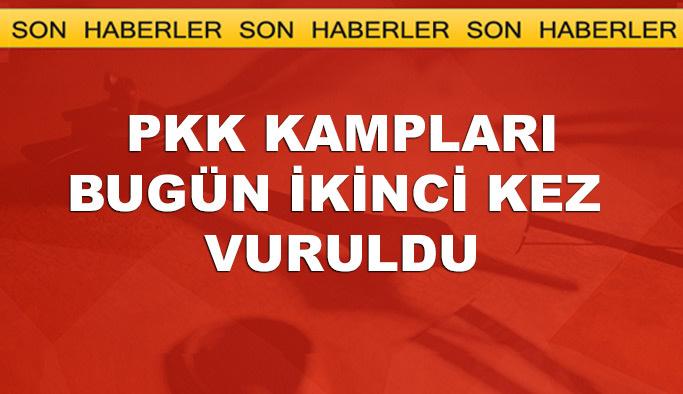 PKK'ya aynı gün ikinci hava operasyonu