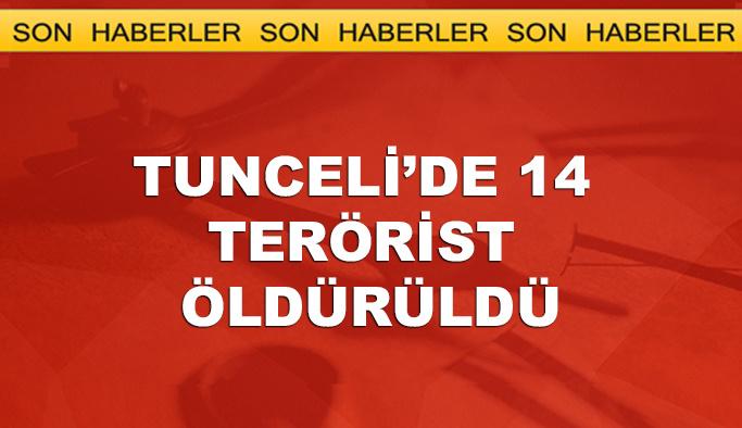 Tunceli'de 14 terörist öldürüldü