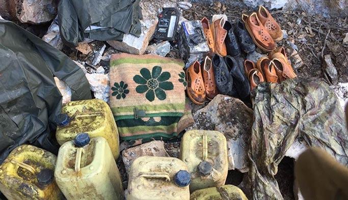 Aktütün'de teröristlerin sığınakları imha edildi