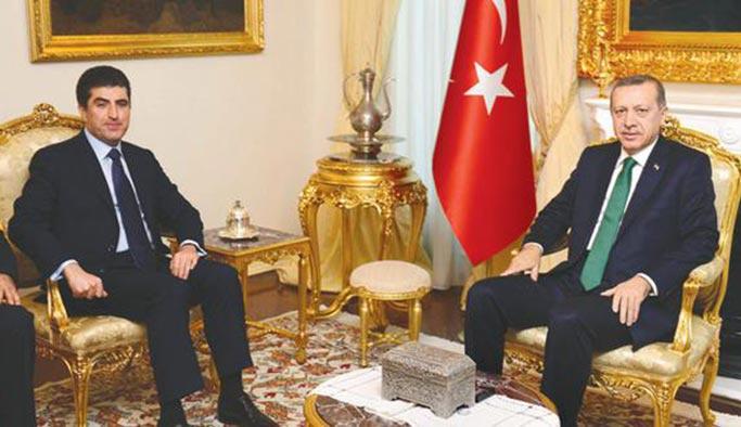 Erdoğan-Barzani görüşmesi 45 dakika sürdü