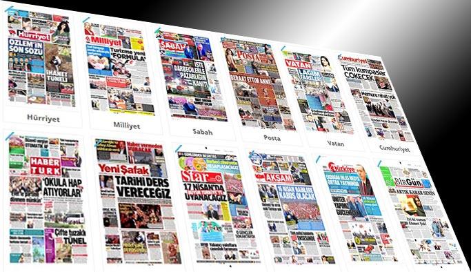 Gazetelerin bugünkü manşetleri - 13 Nisan 2017
