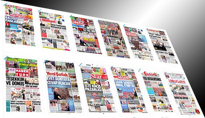 Gazetelerin bugünkü manşetleri - 14 Nisan 2017