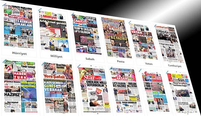 Gazetelerin bugünkü manşetleri - 8 Nisan 2017