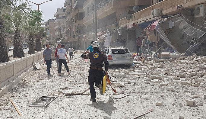 İdlib'de hava saldırısı, 7 sivil öldü