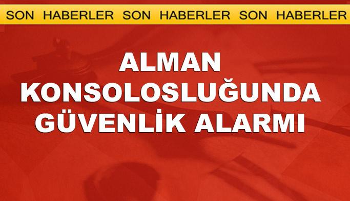 İstanbul'daki Alman konsolosluğunda 'şüpheli paket' alarmı