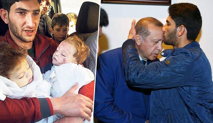 Kimyasal katliamın sembol ismi Erdoğan'ı alnından öptü