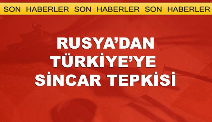 Rusya'dan Türkiye'ye Sincar tepkisi