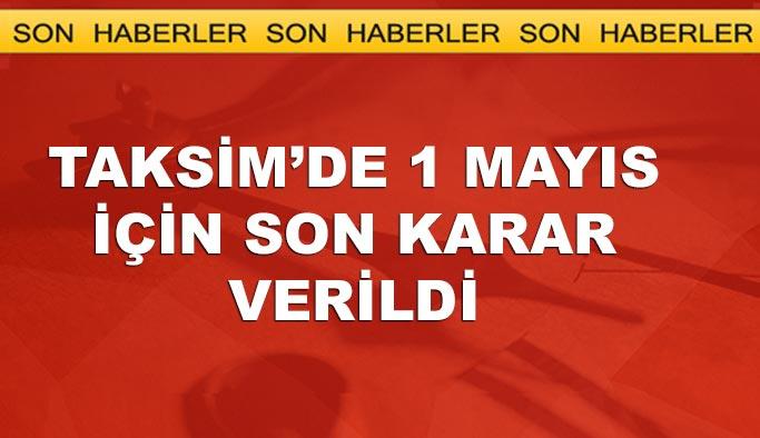 Taksim Meydanı'nda 1 Mayıs'a izin yok