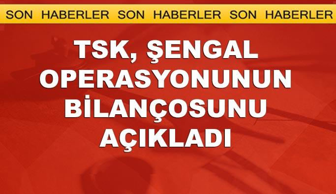 TSK Şengal'de kaç terörist öldürüldüğünü açıkladı