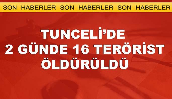 Tunceli'de 2 günde 16 terörst öldürüldü