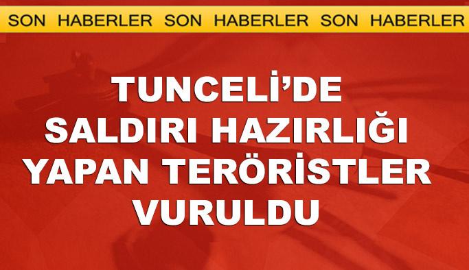Tunceli'de saldırı hazırlığındaki teröristlere operasyon