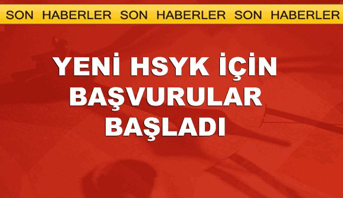 Yeni HSYK için adaylık başvuruları başladı