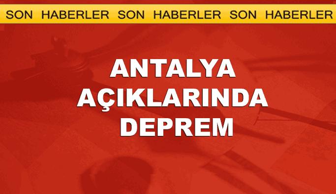 Antalya açıklarında deprem