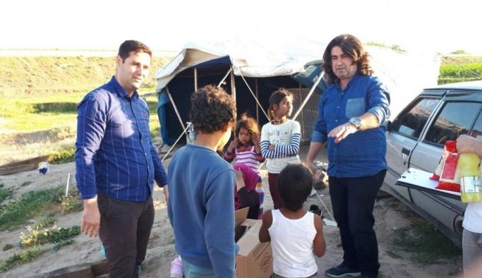 Bismil'de yoksul ailelere gıda paketi yardımı