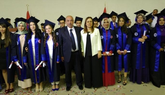 Bolvadin Fen Lisesi'nde mezuniyet sevinci