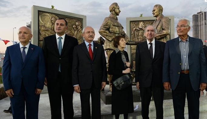 CHP'li belediyeler hizmette hız kesmiyor; Her gün bir heykel