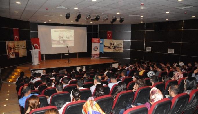 Cizre'de Şair Necip Fazıl Kısakürek'i anma programı