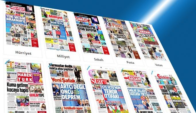 Gazetelerin bugünkü manşeteleri