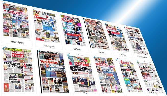 Gazetelerin bugünkü manşetleri - 12 Mayıs 2017