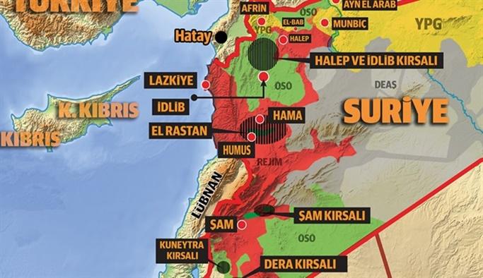 İşte Suriye'de kurulacak güvenli bölgeler