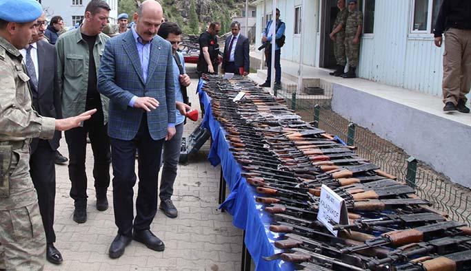 Kato Dağı'nda bir ayda 676 adet silah ele geçirildi
