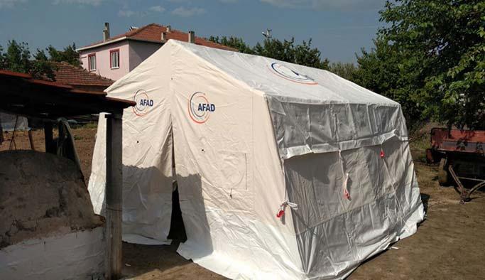 Manisa'da depremzedeler için çadırlar kuruldu