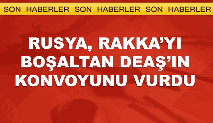Rusya, YPG ile anlaşıp Rakka'dan yola çıkan DEAŞ konvoyunu vurdu
