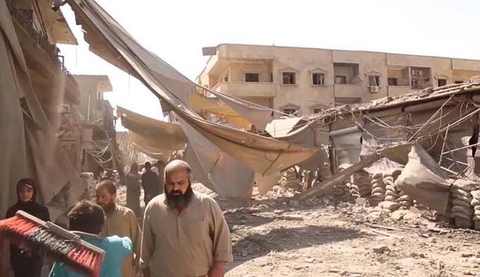 YPG Amerikan bombalarıyla Rakka'da sivilleri katletti