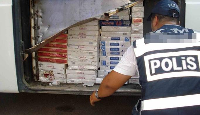 144 bin TL değerinde kaçak sigara ele geçirildi