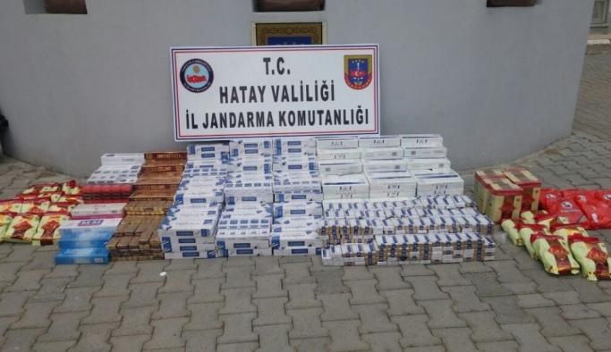 Araçlarından kaçak sigara çıkan 22 kişi gözaltına alındı