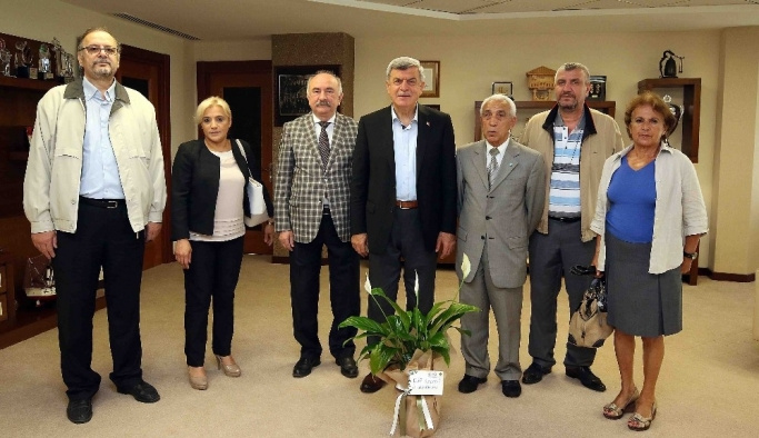 Başkan Karaosmanoğlu, DSP İl yönetimini konuk etti