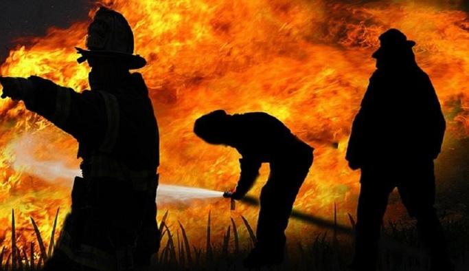 Deri fabrikasında yangın