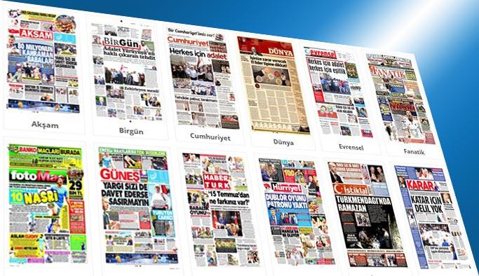 Gazetelerin bugünkü manşetleri 18 Haziran 2017