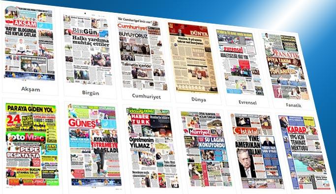 Gazetelerin bugünkü manşetleri 23 Haziran 2017